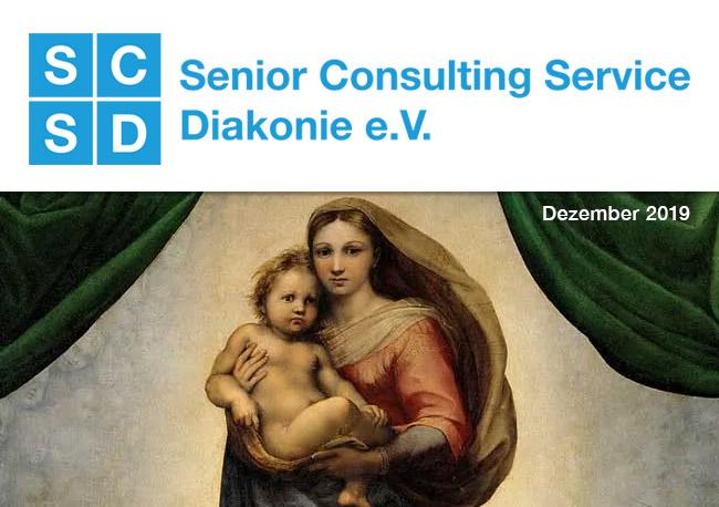 BIld: Weihnachtsgruss SCSD / Bildnachweis: Sixtinische Madonna von Raffael